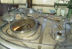 Filterbehälter mit Heißschlange