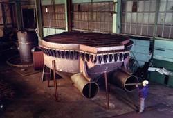 Wind box fluidised bed kiln