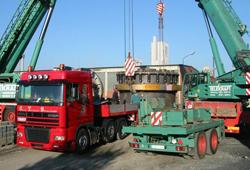 Unloading of converter part