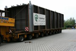 Transport of precooler upper parts