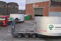Transport of contact vessel discs