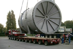 Loading of heat exchanger for Chile