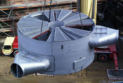 Contact vessel assembly