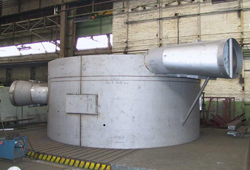 Pre-assembly of contact vessel